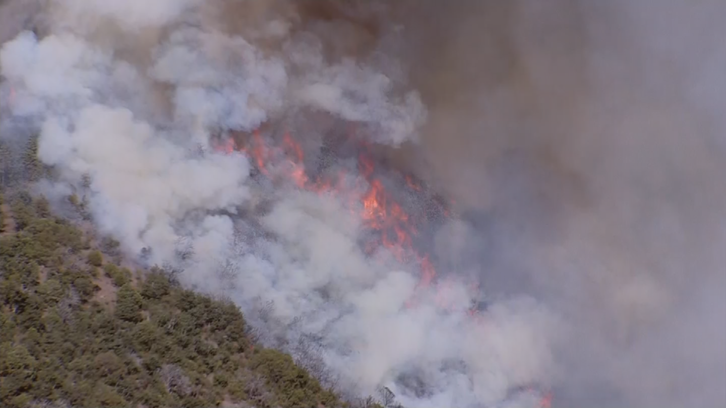 A drone near Phoenix-Mesa Gateway Airport forced aircraft fighting the Goodwin Fire near Prescott to stay on the ground Wednesday evening. (Source: 3TV/CBS 5)