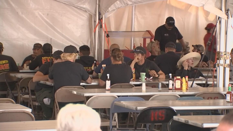 More than 600 firefighters were battling the Goodwin Fire burning in communities around Prescott. (Source: 3TV/CBS 5)
