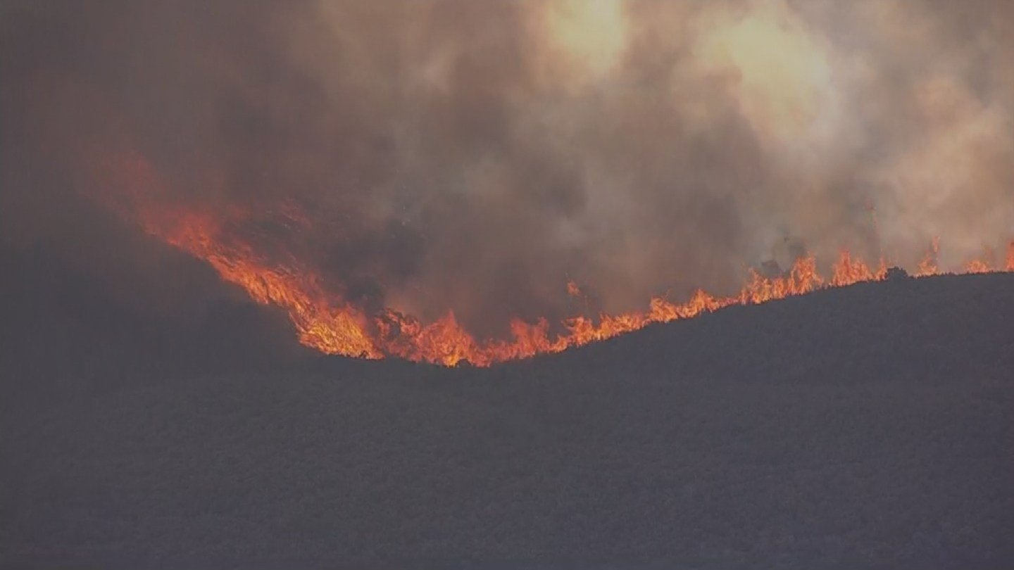 Conditions for the hundreds of firefighters battling a large northern Arizona blaze were looking good Thursday as officials announced some residents would be allowed back in their homes. (Source: 3TV/ CBS 5)