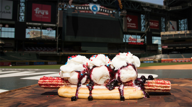 The All American Churro Dog that will be sold on June 1st. (Source: Arizona Diamondbacks)