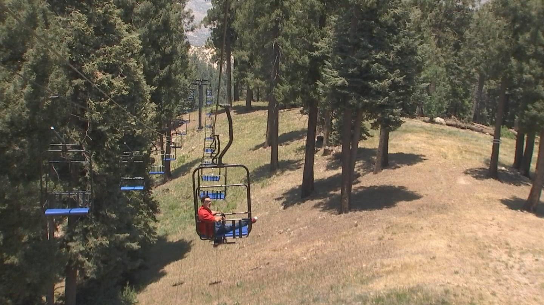 Javier Soto on the ski lift (Source: 3TV/CBS 5)