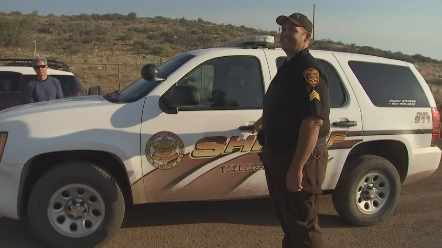 Yavapai County Sheriff's Deputy who fed and cared for a Mayer couple's pet burros during the Goodwin Fire (Source: 3TV/CBS 5)