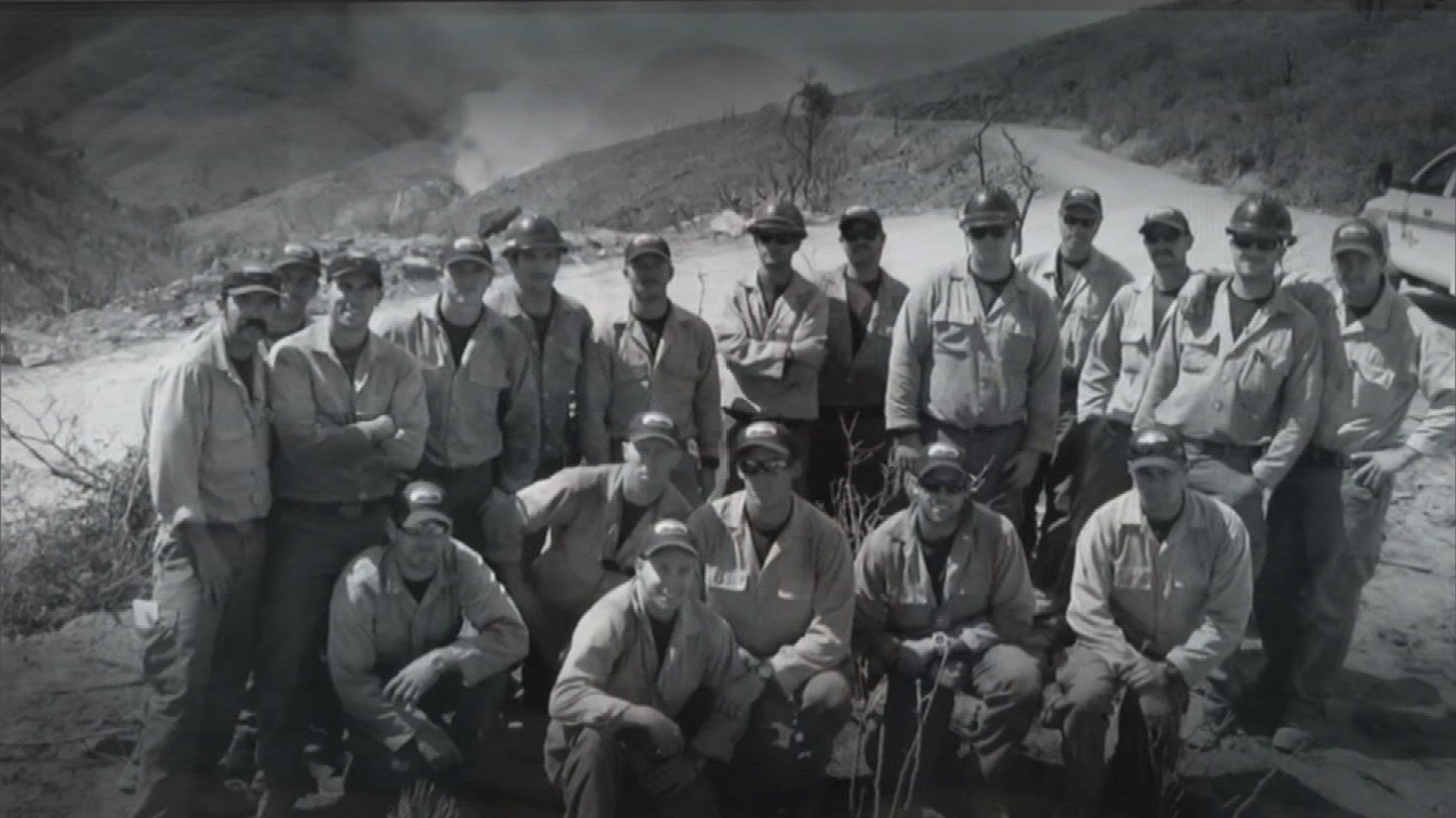 Granite Mountain Hotshots prior to the Yarnell Hill fire of 2013. (30 June 2017) (Source: 3TV/CBS 5)