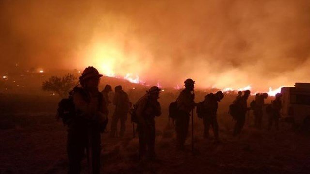 The Goodwin Fire has burned more than 27,000 acres as of Sunday morning. (Source: U.S. Forest Service)