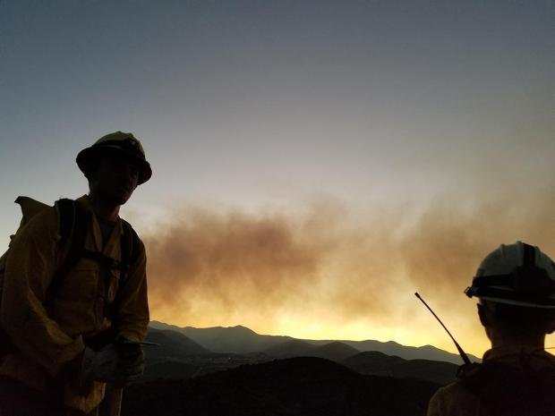 Firefighters hope to complete a burn out operation on Sunday. (Source: U.S. Forest Service)