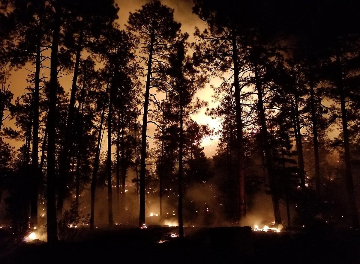 The containment on fire has remained the same compared to Saturday night. (Source: U.S. Forest Service)