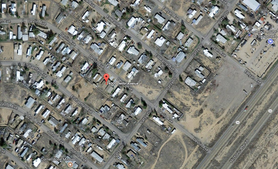 A Google satellite view of the area that burned. (Source: Google)