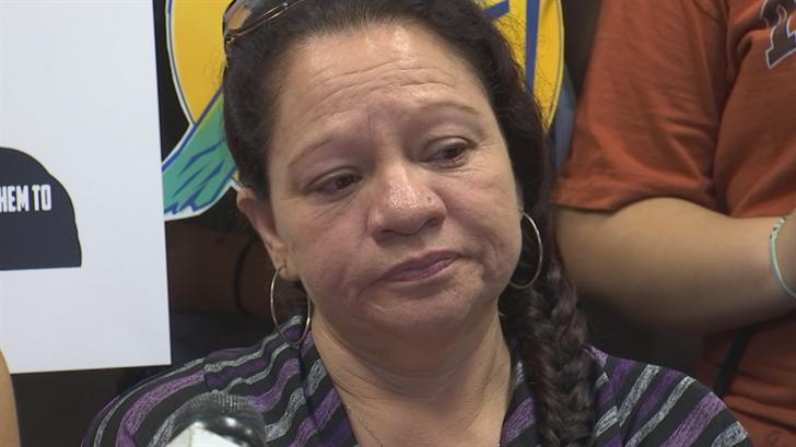 Lorernza Valdez requesting on behalf of her son