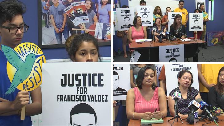 Protestors requesting on behalf of Valdez. Tuesday June 27