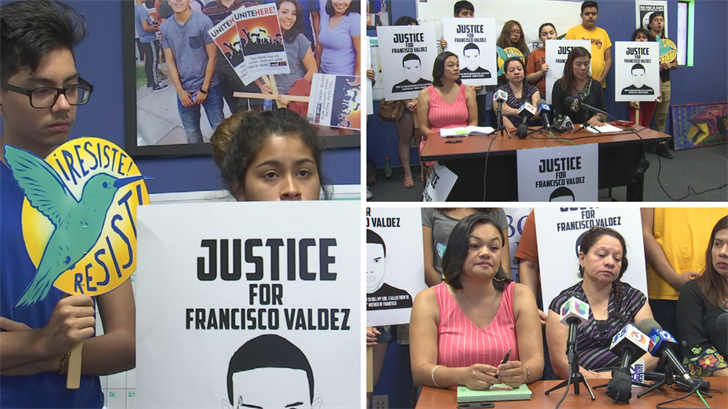 Protestors requesting on behalf of Valdez. Tuesday June 27