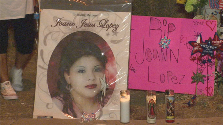 A vigil was held on Monday for Joann Lopez, who was shot and killed five years ago. (Source: 3TV/CBS 5)