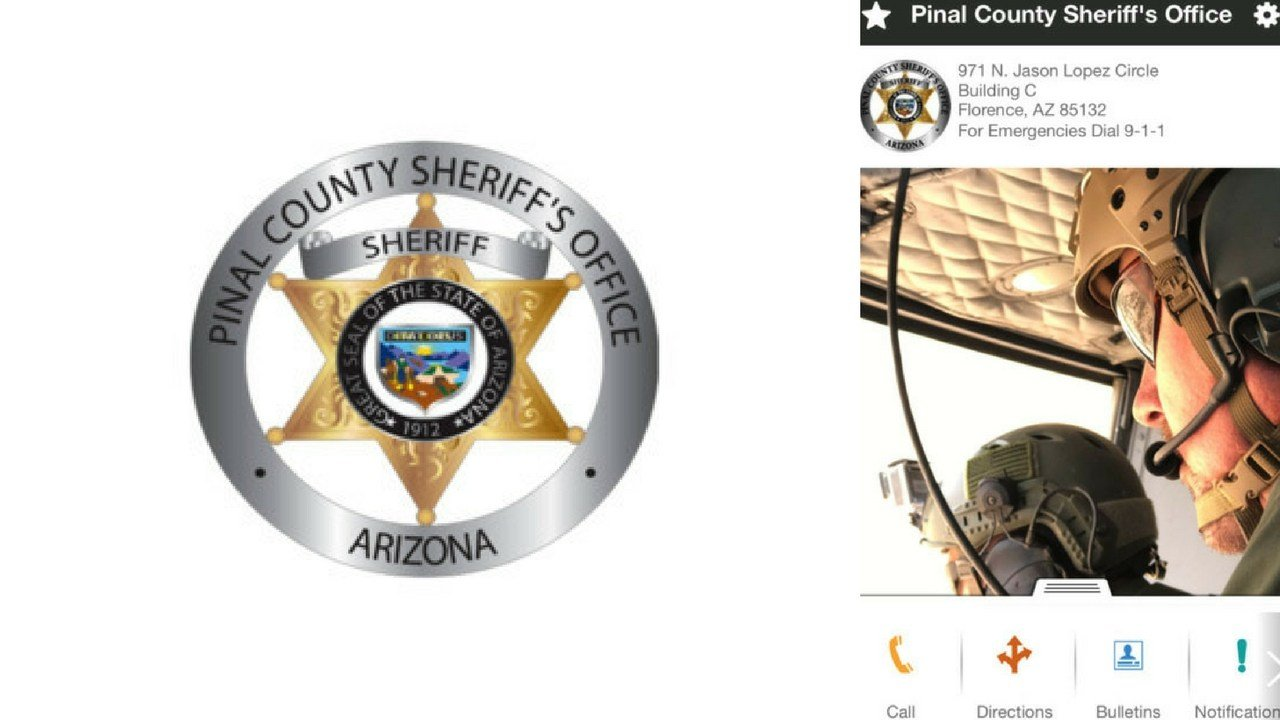 The Pinal County Sheriff's Office released a new and free mobile app to connect with members of the Pinal County community through their mobile devices. (Source: PCSO)