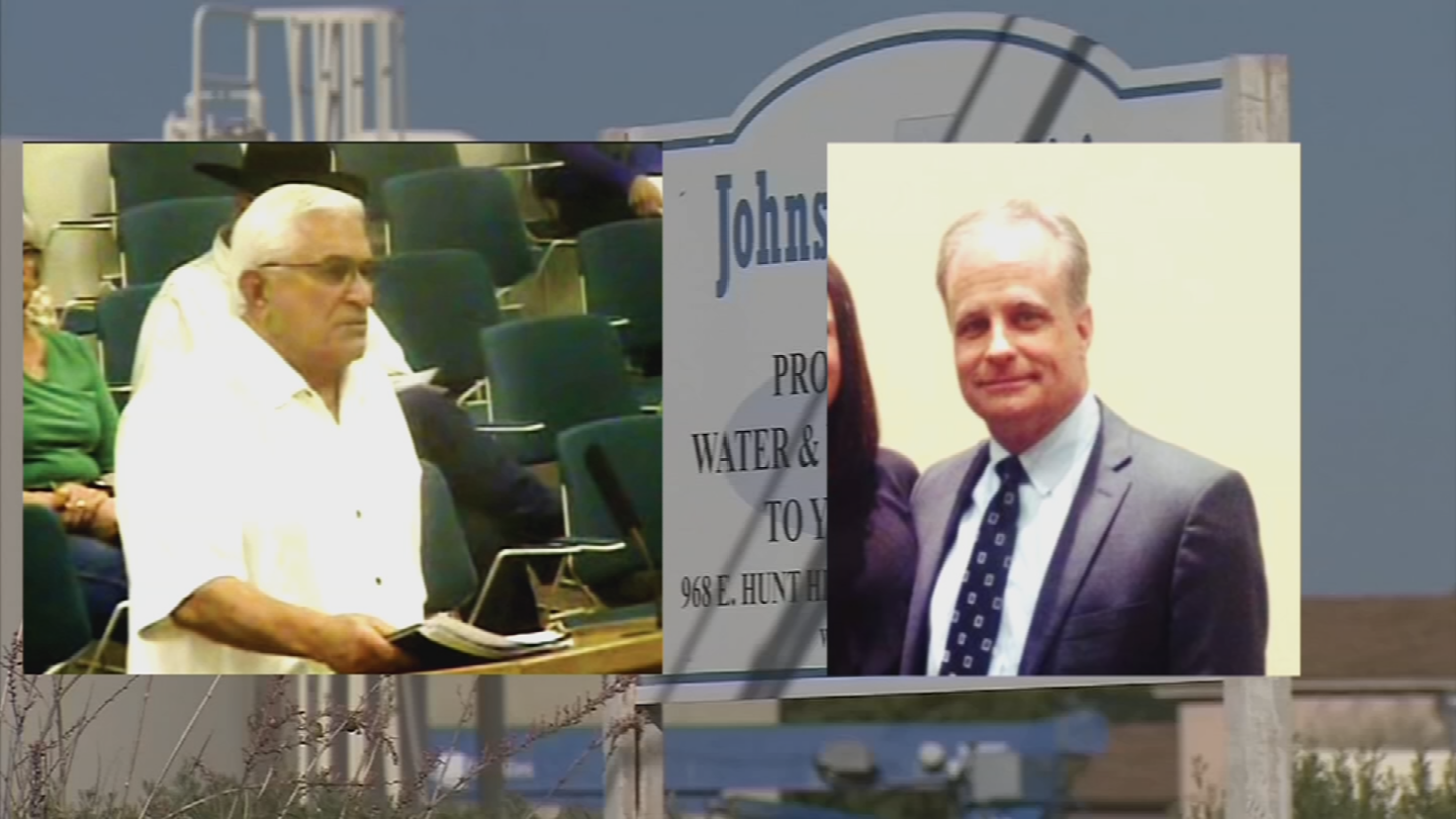 George Johnson, left, and lobbyist Jim Norton, right, have been indicted as well. (Source: 3TV/CBS 5)