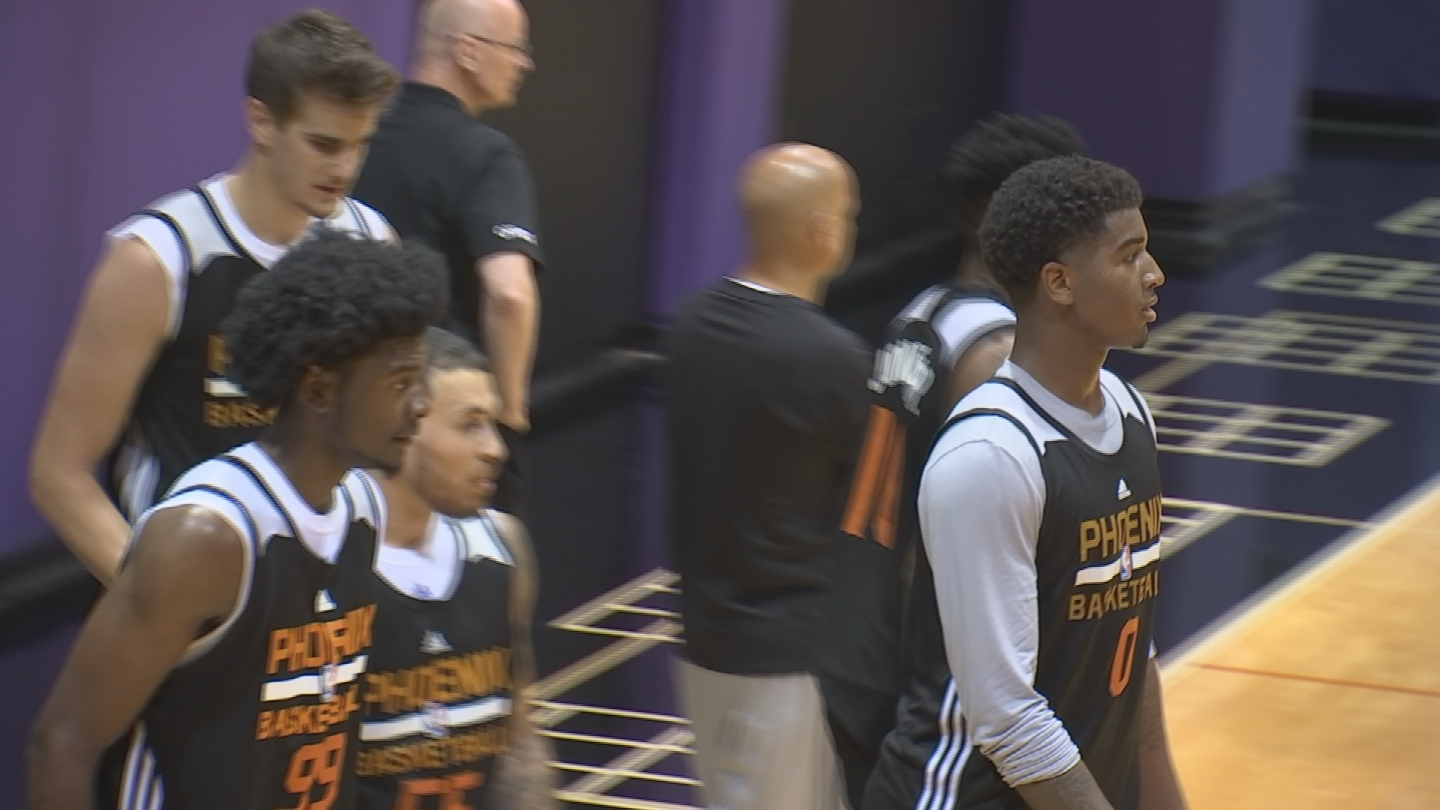 "The Suns are hoping their ""Big 3"" shine in the summer league. (Source: 3TV/CBS 5)"
