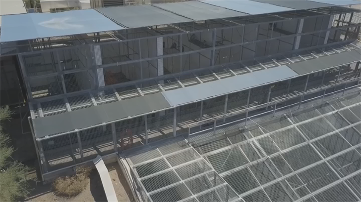 Jesse Sorensan shot drone video of a facility that had monkeys in cages in the East Valley. (Source: 3TV/CBS 5)