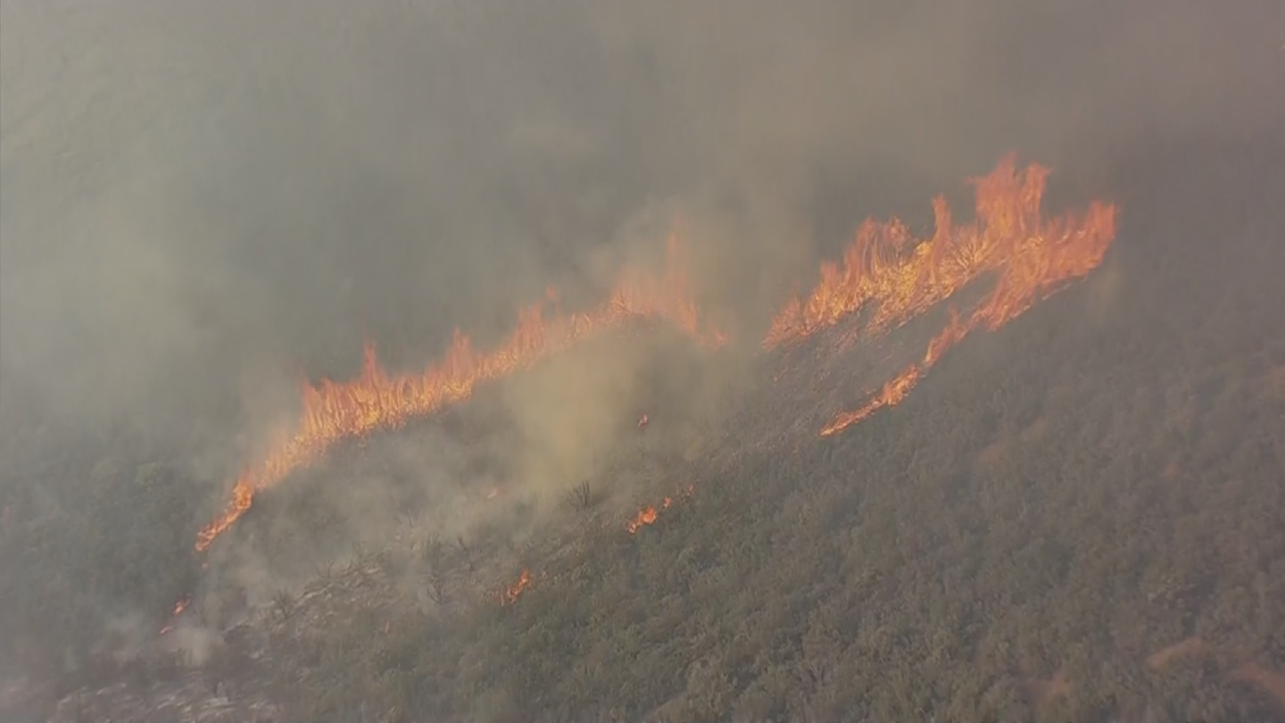 Crews are worried that the Goodwin Fire has made the area more susceptible to floods. (Source: 3TV/CBS 5)