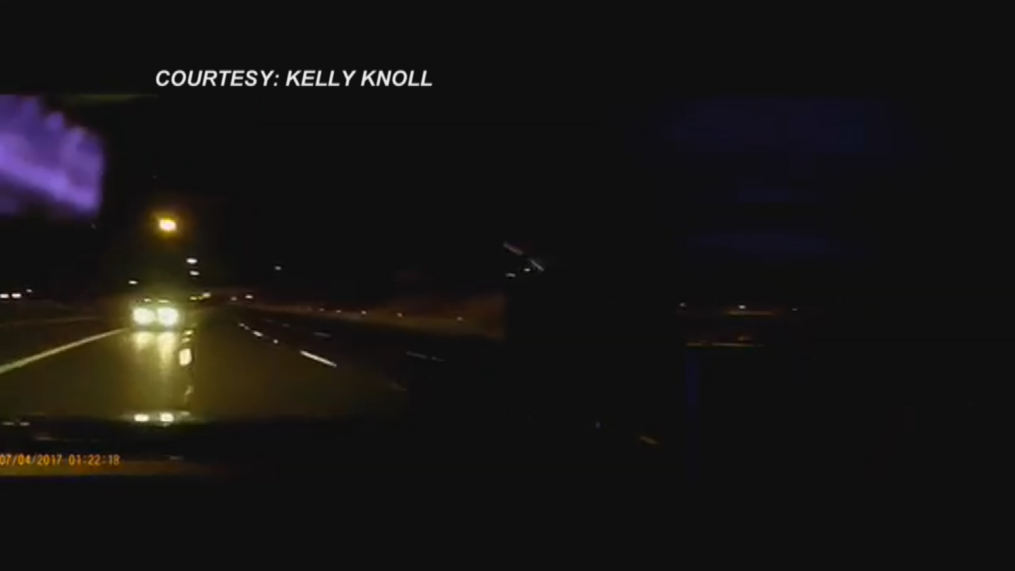 Knoll was heading east on the Loop 202 when he spotted a driver going the wrong way. (Source: Kelly Knoll)