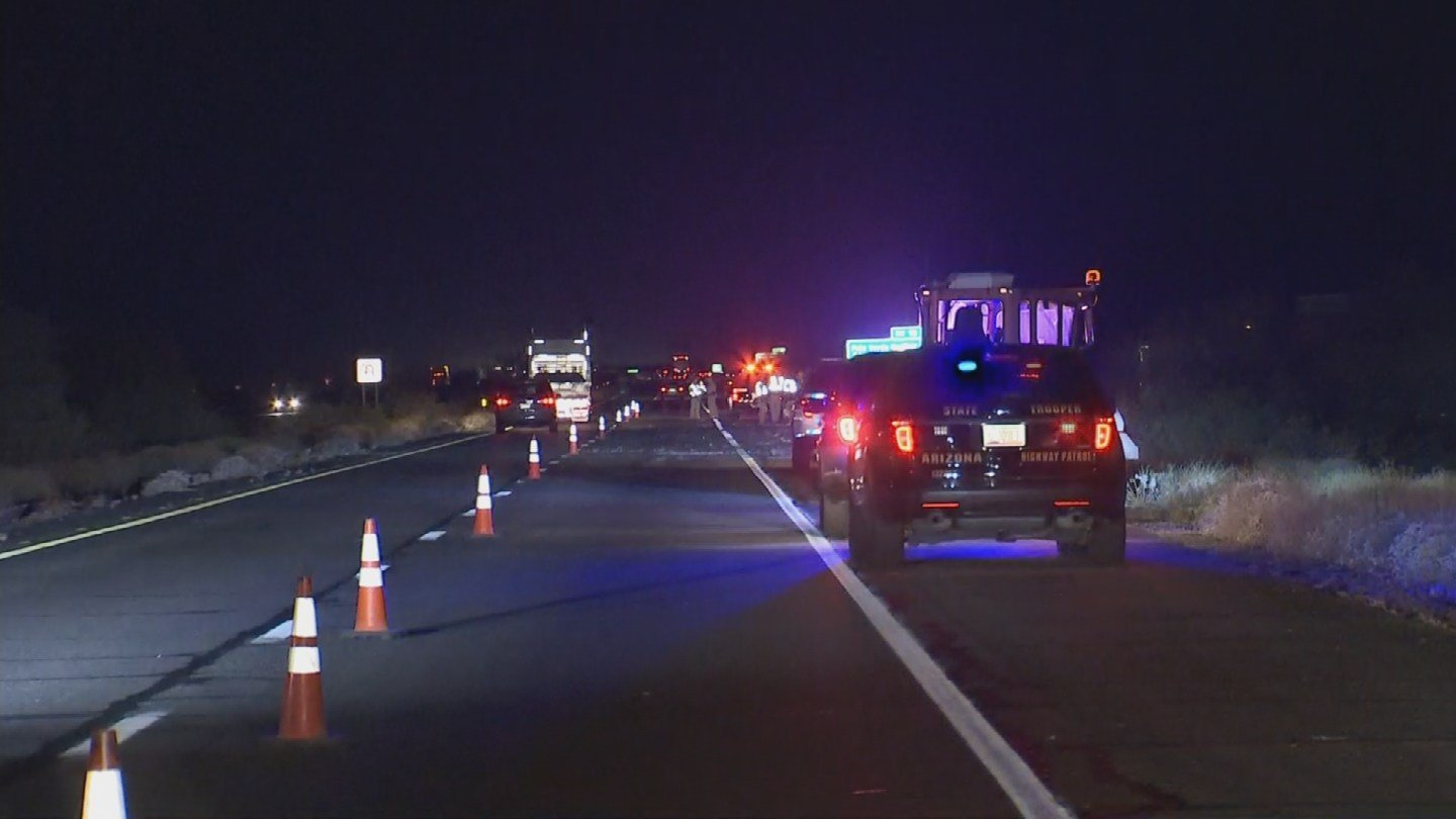 A middle-aged man in a pickup truck was ejected from his vehicle when a semi-truck rear-ended him. (Source: 3TV/CBS 5)