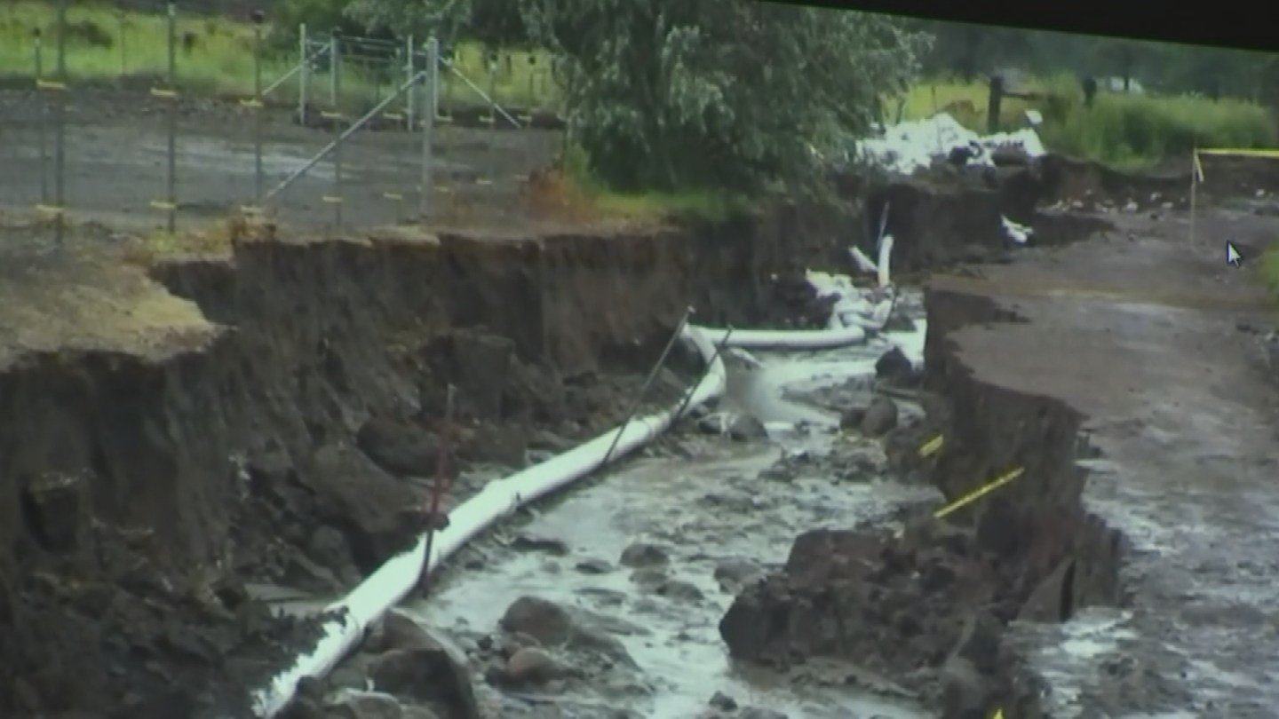 Meeting about possible flooding after the Goodwin Fire shows pictures of previous flooding in Doney Park after the Schultz Fire in Flagstaff. (Source: 3TV/CBS 5)