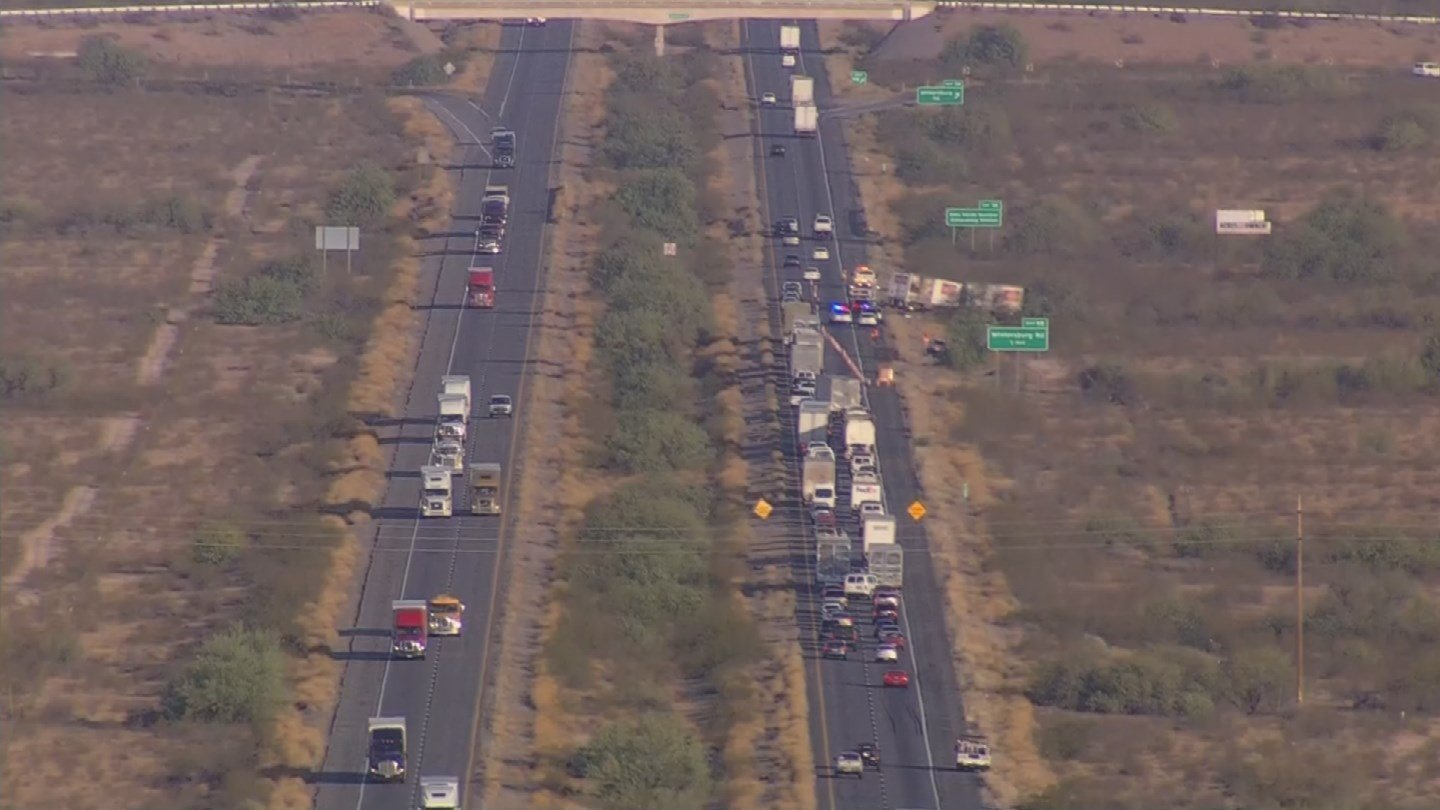 One lane was reopened on the I-10 around 4:25 a.m., according to the Arizona Department of Transporation. (Source: 3TV/CBS 5)