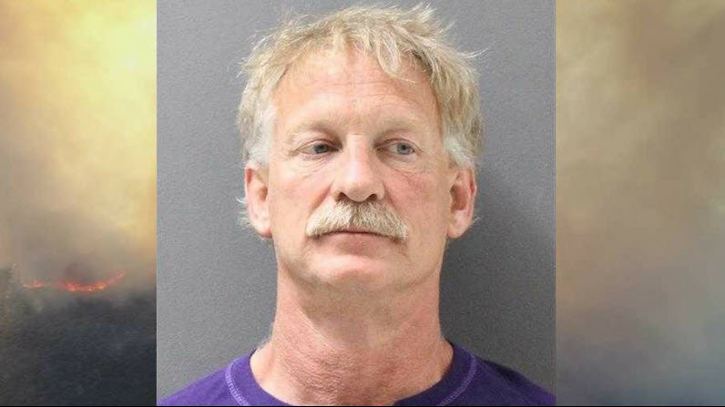 Gene Alan Carpenter has been formally charged with two counts of felony endangerment for flying a drone over a Prescott wildfire. (Source: Yavapai County Sheriff's Office)