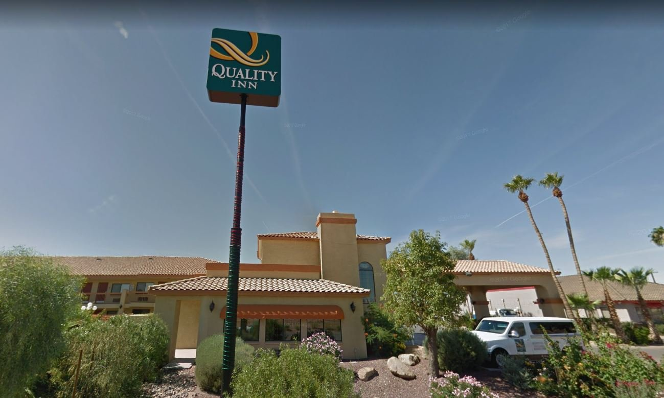The crime happened early Thursday morning at the Quality Inn Hotel near Florence Boulevard and Henness Road. (Source: Casa Grande Police Department)