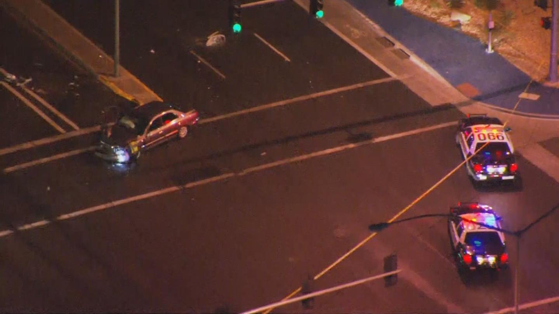 A person was killed in a car-pedestrian crash in Mesa. (Source: 3TV/CBS 5)