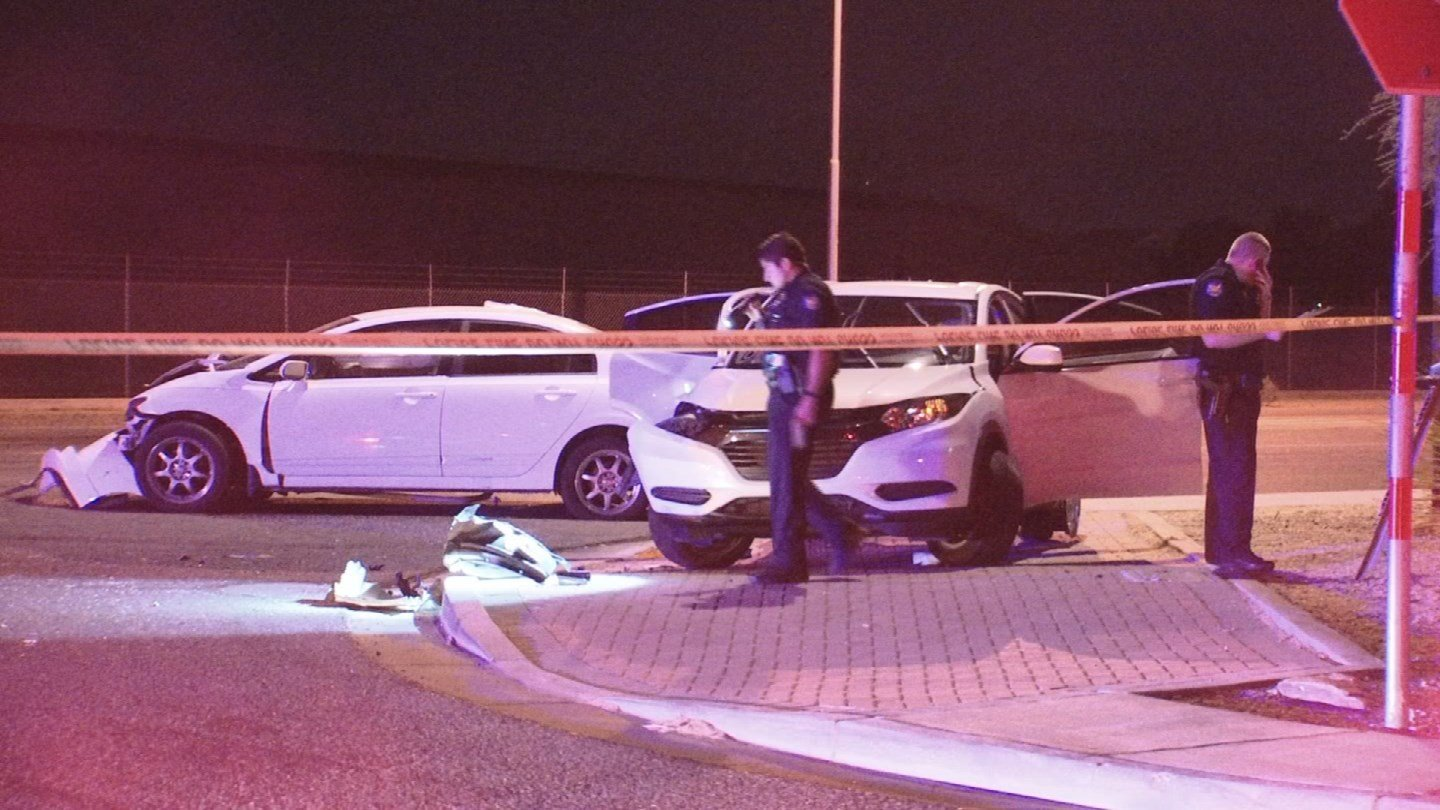 Three people were injured, including a man in critical condition, after a crash in Scottsdale late Thursday night. (Source: 3TV/CBS 5)