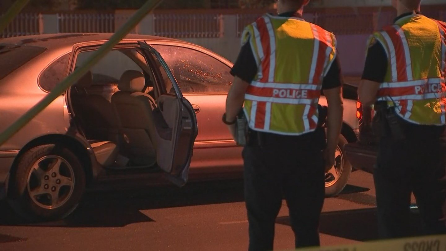 A man has died after being struck by a car on Thomas Road early Friday morning. (Source: 3TV/CBS 5)
