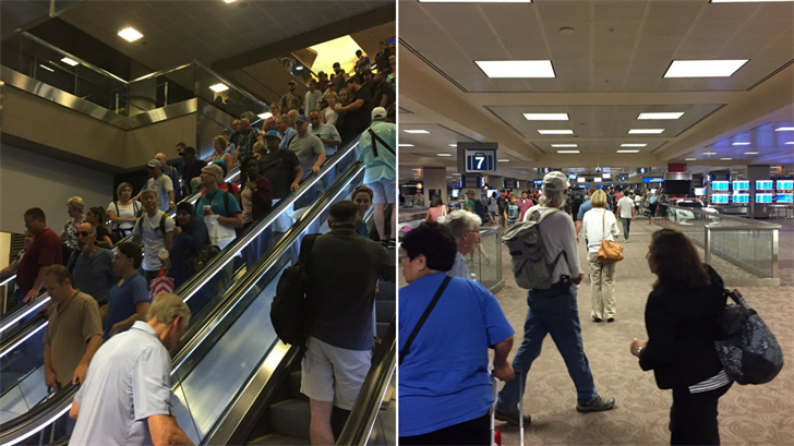 """Sky Harbor resumed normal operations after police determined a """"suspicious"""" package wasn't dangerous. (Source: 3TV/CBS 5)"""