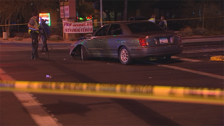 A man was killed near First Avenueand Dobson Road in Mesa. Officers said a car hit him while he was jaywalking. (Source: 3TV/CBS 5)