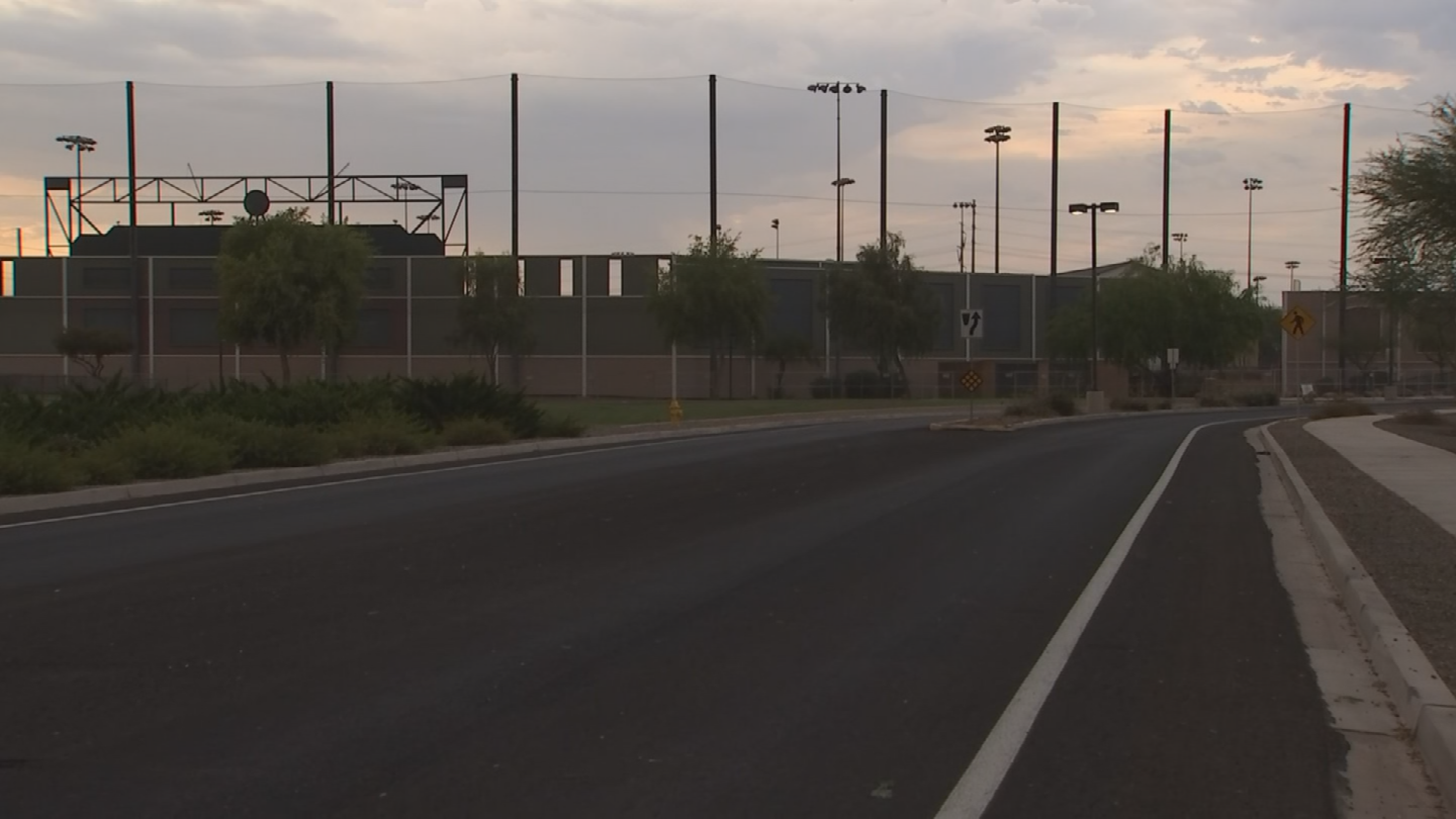 Park closed signs greeted league players Friday at Elliot District Park in Gilbert. (Source: 3TV/CBS 5)