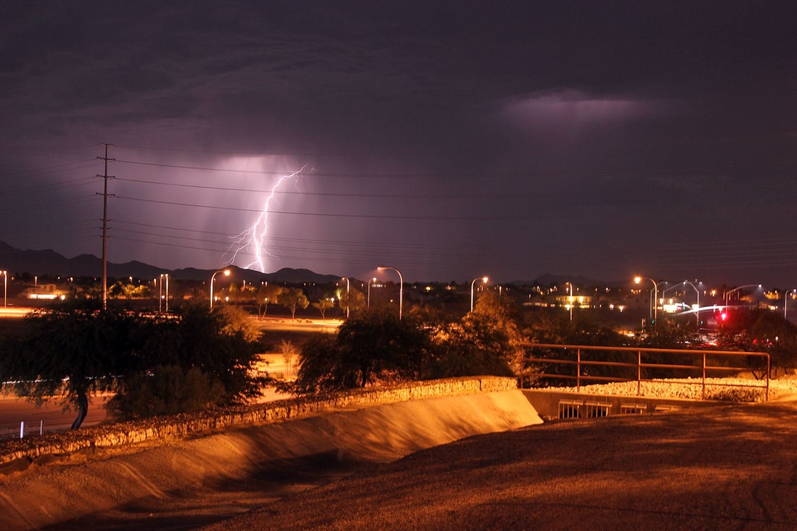Mother Nature teased the Valley with storms on the outskirts of greater Phoenix on July 6, 2017.(Source: Michael Hartrumph)