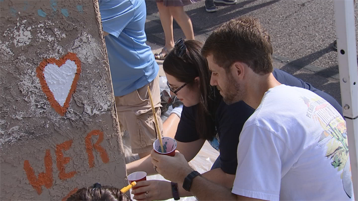 But Sunday, their friends, family and neighbors reminded them that love conquers hate. (Source: 3TV/CBS 5)
