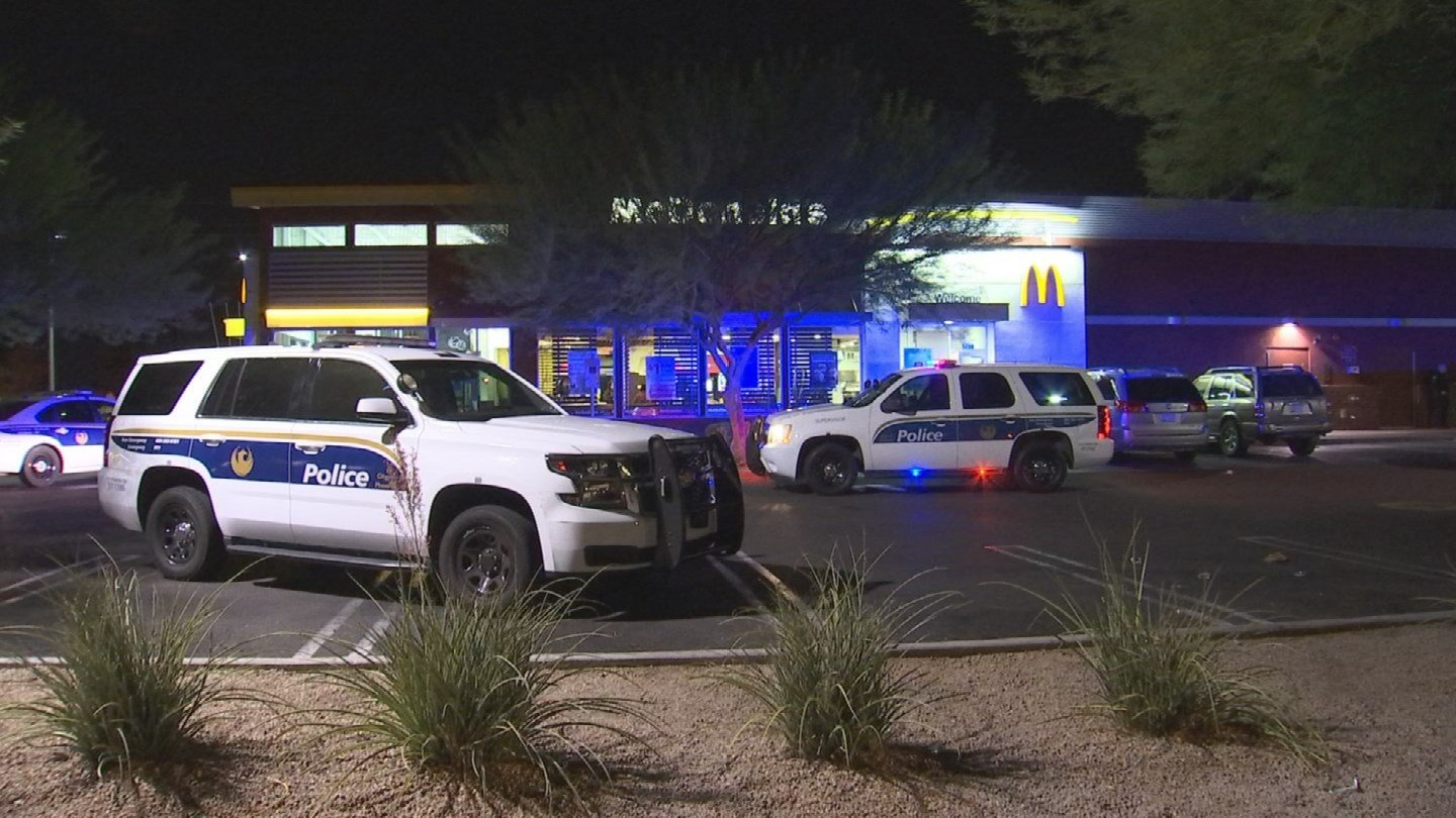 Two men robbed a Phoenix McDonald's overnight at gunpoint. (Source: 3TV/CBS 5)