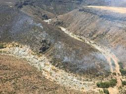 Pierson said activity on the Brooklyn Fire no longer poses a threat to private land near Black Canyon City east of Interstate 17. (Source: BLM)