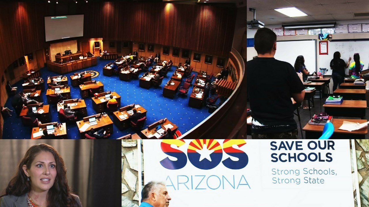 A group that opposes a major private school voucher expansion bill signed by Arizona Gov. Doug Ducey this spring says it is on track to collect enough signatures to place the law on hold. (Source: 3TV/CBS 5)