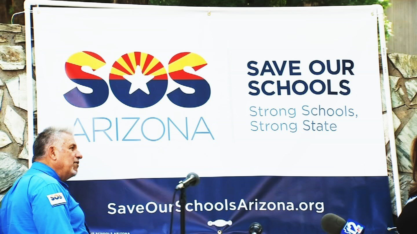 Save Our Schools spokeswoman Dawn Penich-Thacker says the group isn't releasing an exact count of the number of signatures it has collected so far. (Source: 3TV/CBS 5)