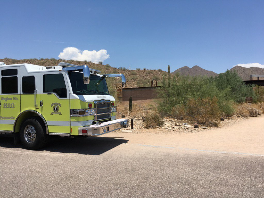 The crews removed the three hikers and the dead dog from the mountain. (Source: Scottsdale Fire Department)