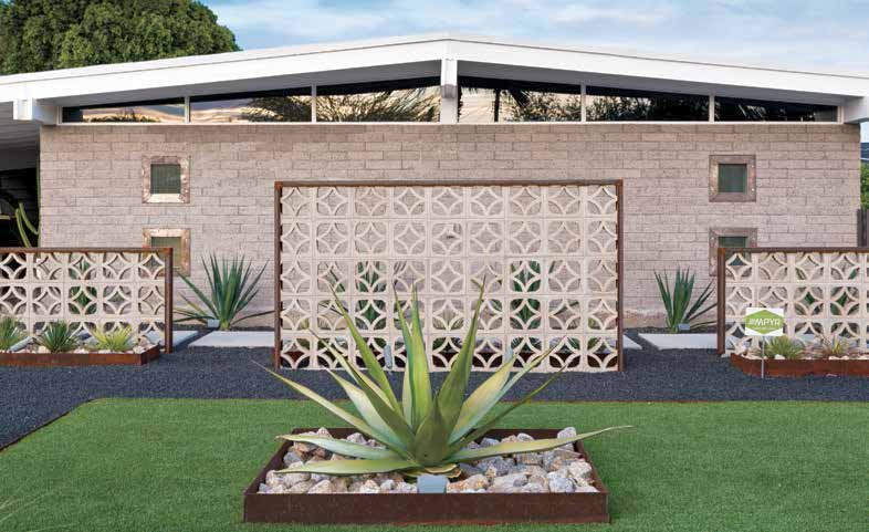 One of my favorite features is the decorative breeze block wall in the front. (Source: Phoenix Home & Garden)