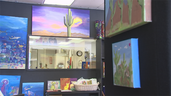 Flerish Design features works created by adults with developmental disabilities. (Source: 3TV/CBS 5)