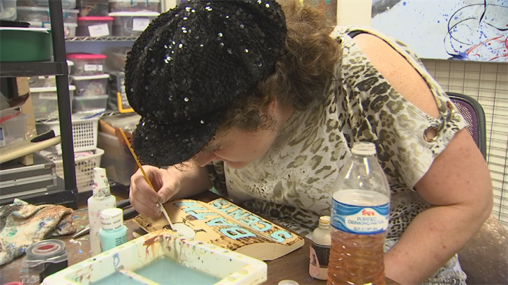 Shoppers can meet the five artists, working in a studio adjacent to the store. (Source: 3TV/CBS 5)