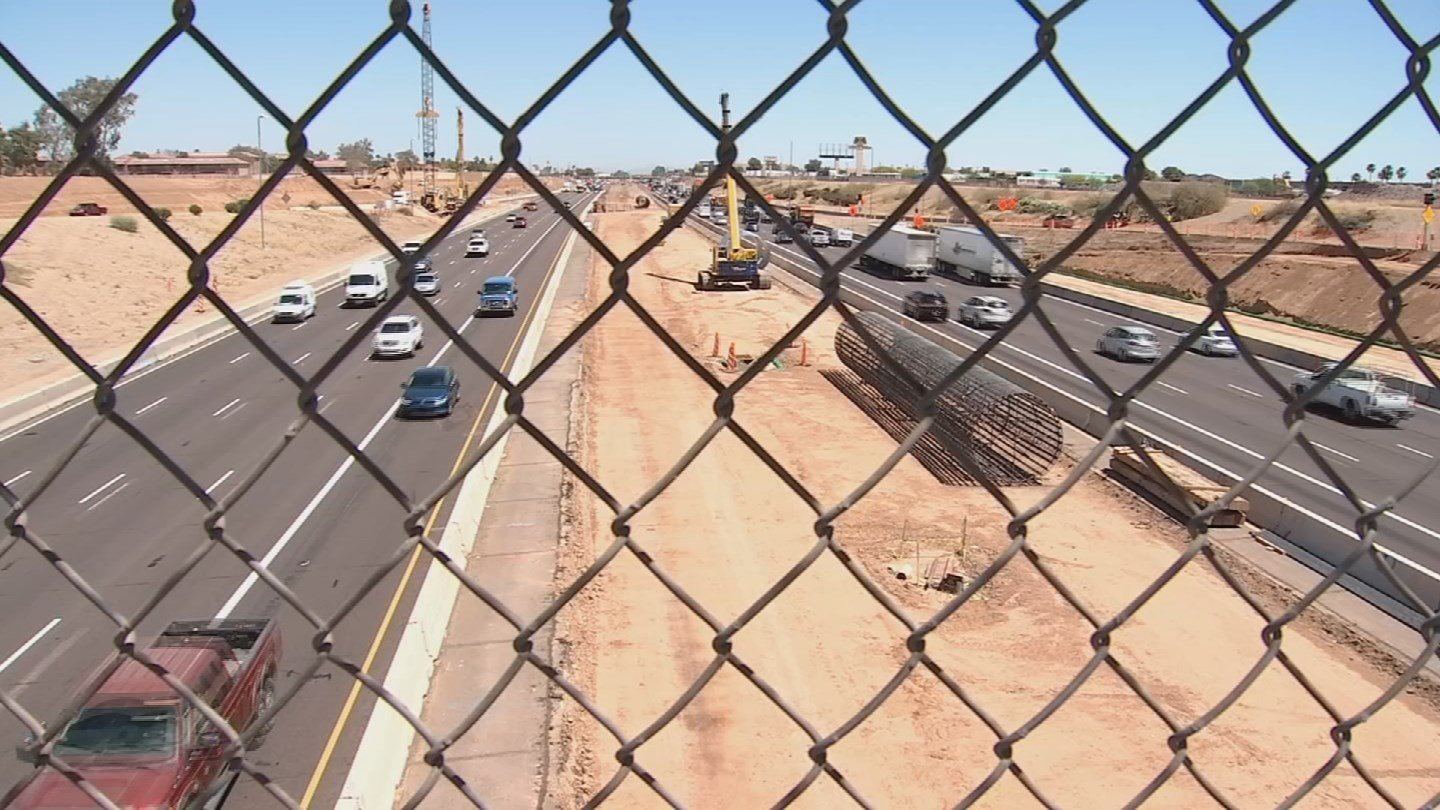 The Loop 202 South Mountain Freeway project is about six months into major construction andprogress is already visible. (Source: 3TV/CBS 5)