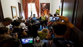 Protesters take over the Capitol Hill office of Sen. Jeff Flake, R-Arizona, one of several lawmakers who are being targeted by opponents of a Senate proposal to replace the Affordable Care Act, better known as Obamacare. (Source: Ben Moffat/Cronkite News)