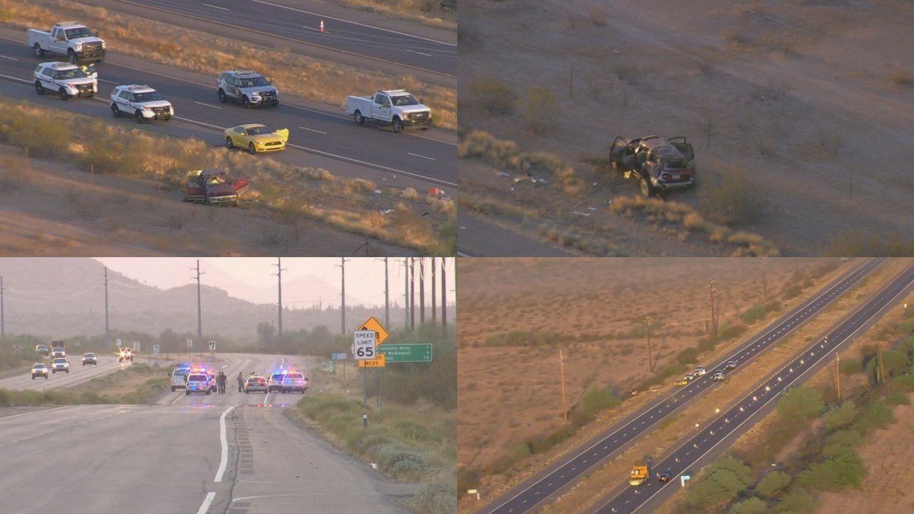 Two people are dead and four are injured after a rollover. (Source: 3TV/CBS 5)