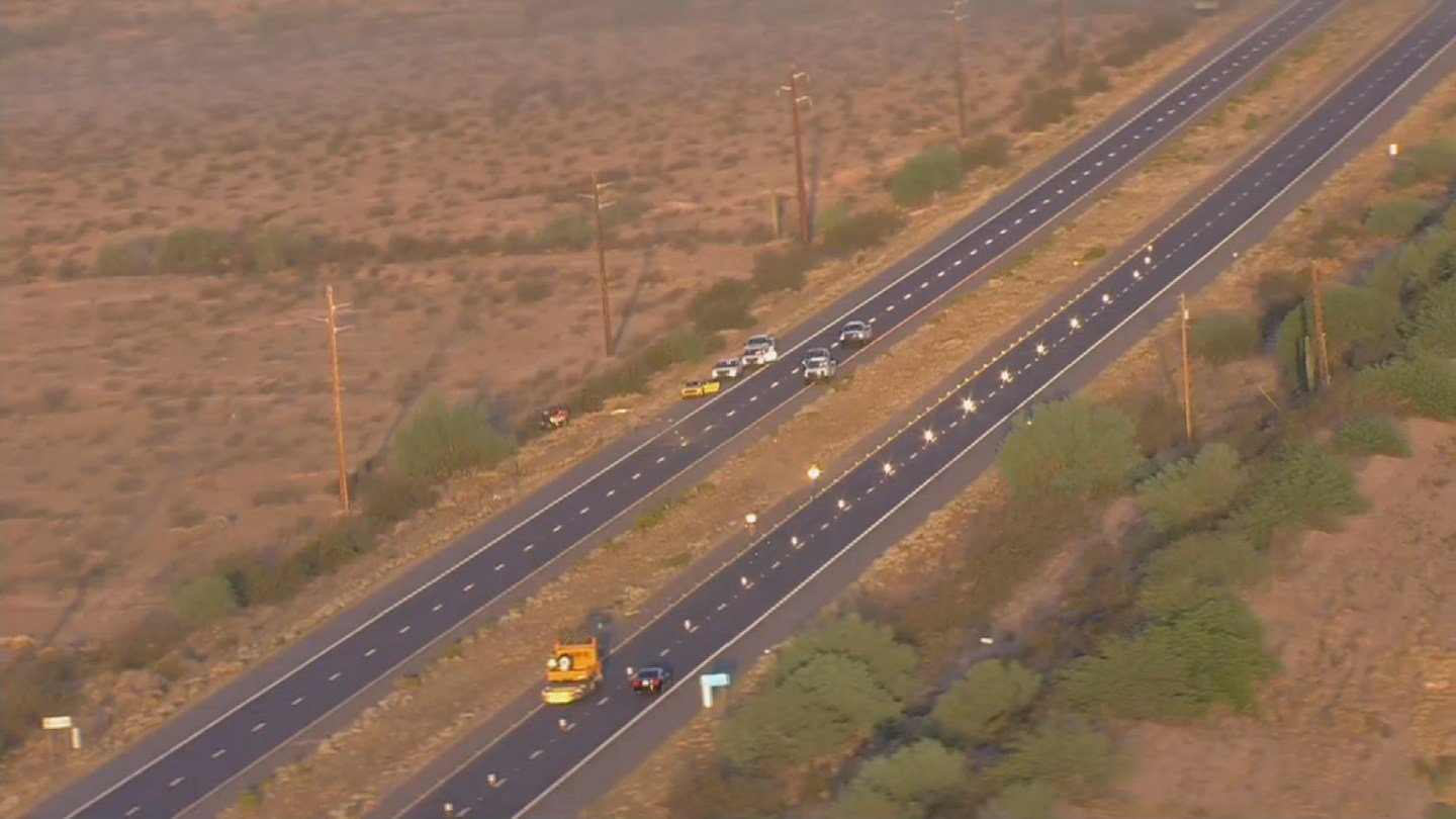 The Arizona Department of Public Safety said the northbound lanes of State Route 87 at Gilbert Road. (Source: 3TV/CBS 5)