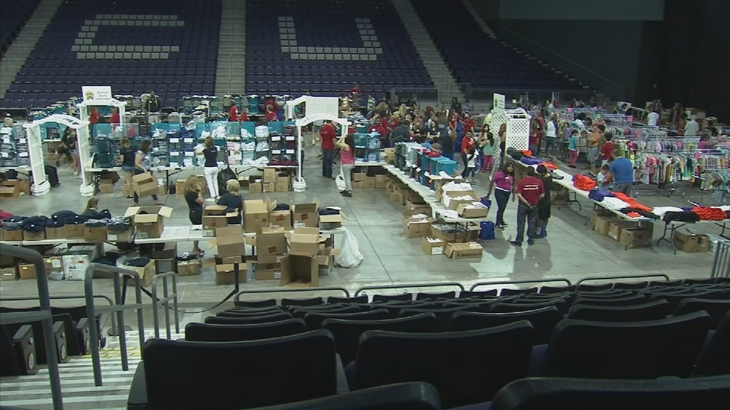 In its 50th year, the event helps more than 250,000 children from 260 different schools with free clothes, shoes and a backpack full of school supplies. (Source: 3TV/CBS 5)