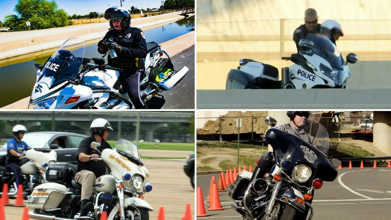 Staying cool in the Arizona sun for a motorcycle officer is no easy task, especially in the triple-digit heat. Experienced officers do have a few tricks up their sleeves, however. (Source: 3TV/CBS 5/WLBT/AP Images/Chandler PD)