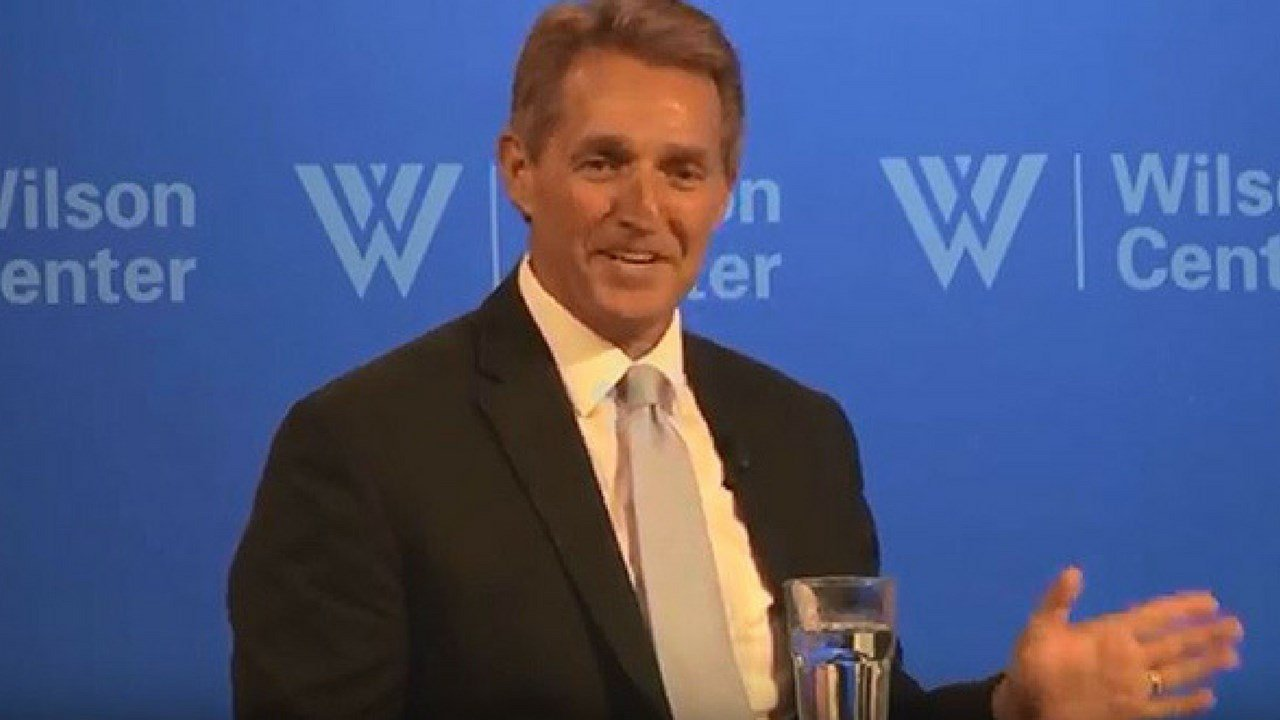 Sen. Jeff Flake, R-Arizona, said that close to three-fourths of the current members of Congress were not in office in 2001 and 2002. (Photo by Alex Valdez/Cronkite News)
