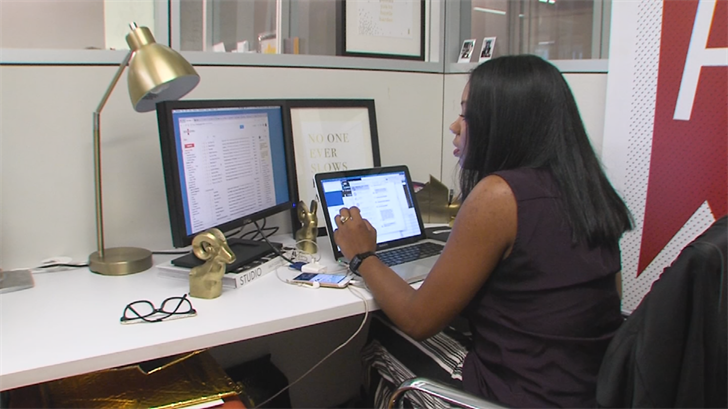 Take Rhonesha Byng, for example. She loves her job, but a cubicle-free, open office environment created problems. (Source: 3TV/CBS 5)